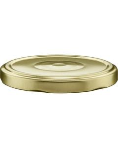 82mm 82-2040 Gold Button Metal Lug Cap w/ Plastisol Liner
