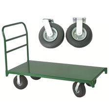 "27"" x 54"" Steel Platform Truck, 8"" x 2.5"" Pneumatic Casters, 1,600 lb. Capacity"
