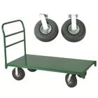 "27"" x 54"" Steel Platform Truck, 10"" x 3.5"" Pneumatic Casters, 2,500 lb. Capacity"