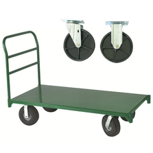 "30"" x 48"" Steel Platform Truck, 6"" x 1.375"" Polyolefin Casters, 1,600 lb. Capacity"
