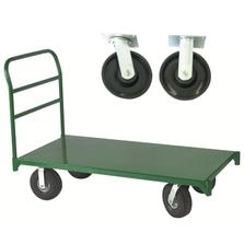 "30"" x 48"" Steel Platform Truck, 8"" x 2"" Polyolefin Casters, 2,500 lb. Capacity"
