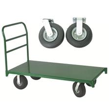 "30"" x 48"" Steel Platform Truck, 8"" x 2.5"" Pneumatic Casters, 1,600 lb. Capacity"