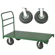 "30"" x 48"" Steel Platform Truck, 10"" x 3.5"" Pneumatic Casters, 2,500 lb. Capacity"
