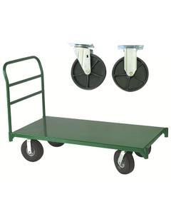 "36"" x 60"" Steel Platform Truck, 6"" x 1.375"" Polyolefin Casters, 1,600 lb. Capacity"