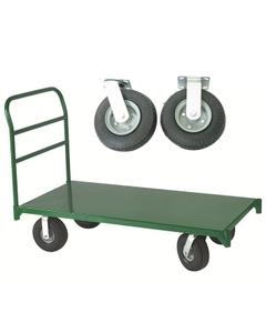 "36"" x 60"" Steel Platform Truck, 8"" x 2.5"" Pneumatic Casters, 1,600 lb. Capacity"