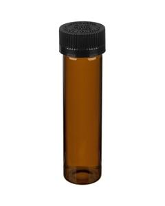 "3.7"" Amber Glass Pre Roll Tube, Black Push Down & Turn Child Resistant Cap, 22mm 22-400"