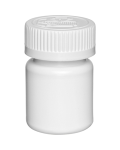 1 oz. White CBD Capsule Bottle, White Child Resistant Cap, 33mm 33-40