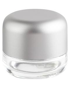2 oz. Glass Jar for Flower Packaging, Silver Child Resistant Cap, 53mm 53-400