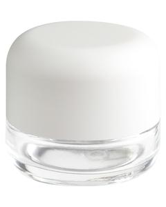 2 oz. Glass Jar for Flower Packaging, White Child Resistant Cap, 53mm 53-400