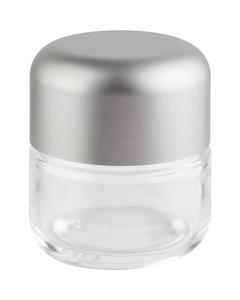 3 oz. Glass Jar for Flower Packaging, Silver Child Resistant Cap, 53mm 53-400