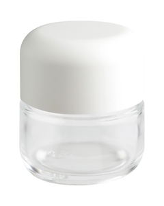 3 oz. Glass Jar for Flower Packaging, White Child Resistant Cap, 53mm 53-400