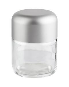 4 oz. Glass Jar for Flower Packaging, Silver Child Resistant Cap, 53mm 53-400