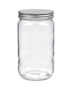 32 oz. Dispensary Storage Jar, Aluminum Metal Cap, 89mm 89-400