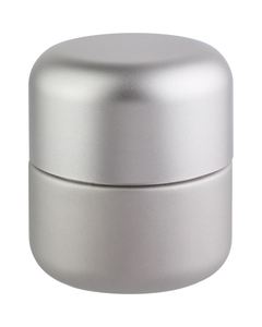 3 oz. Silver Glass Jar for Flower Packaging, Silver Child Resistant Cap, 53mm 53-400