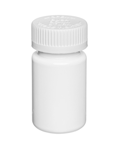 2 oz. White CBD Capsule Bottle, White Child Resistant Cap, 33mm 33-400