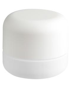 2 oz. White Glass Jar for Flower Packaging, White Child Resistant Cap, 53mm 53-400