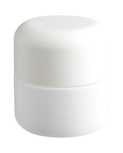 3 oz. White Glass Jar for Flower Packaging, White Child Resistant Cap, 53mm 53-400