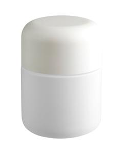 4 oz. White Glass Jar for Flower Packaging, White Child Resistant Cap, 53mm 53-400