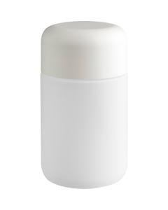 6 oz. White Glass Jar for Flower Packaging, White Child Resistant Cap, 53mm 53-400
