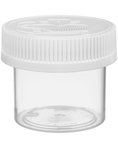 2 oz. Natural Plastic Concentrate Container, White Child Resistant Cap, 53mm 53-400