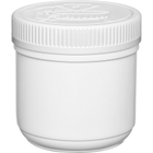 16 oz. Plastic Edibles Canister, White Child Resistant Lid, 89mm 89-400