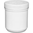 19 oz. Plastic Edibles Canister, White Child Resistant Lid, 89mm 89-400