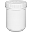 23 oz. Plastic Edibles Canister, White Child Resistant Lid, 89mm 89-400