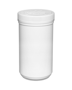 32 oz. Plastic Edibles Canister, White Child Resistant Lid, 89mm 89-400