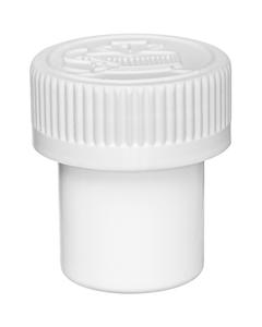 1/2 oz. White Plastic Concentrate Container, White Child Resistant Cap, 53mm 53-400