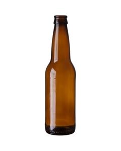 12 oz. (355 ml) Amber Glass Pinnacle Beer Bottle, Crown Pry-Off, 26-611