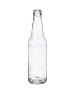 12 oz. (355 ml) Clear Glass Long Neck Beer Bottle, Crown Twist-Off, 26-502
