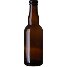 12.68 oz. (375 ml) Amber Glass Belgian Beer Bottle, Cork