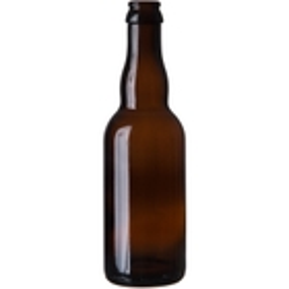 12.68 oz. (375 ml) Amber Glass Belgian Beer Bottle, Crown Pry-Off