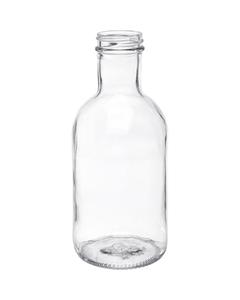 16 oz. Clear Glass Stout Bottle, 38mm 38-405