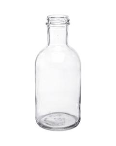 16 oz. Clear Glass Stout Bottle, 38mm 38-2000
