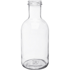 32 oz. Clear Glass Stout Bottle, 48mm 48-405