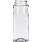 16 oz. Clear PET Plastic Square Spice Jar, 53mm 53-485