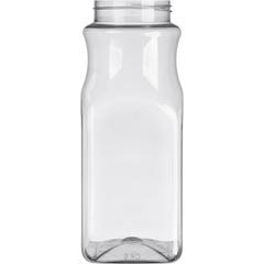 32 oz. Clear PET Plastic Square Spice Jar, 63mm 63-485