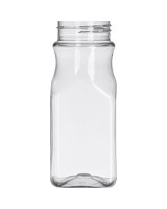 8 oz. Clear PET Plastic Square Spice Jar, 48mm 48-485