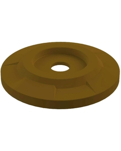 """55 Gallon Drum Brown Plastic Flat Top Recycling Lid, 4"""" Opening"""