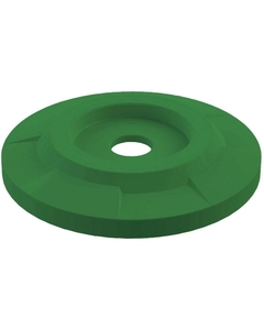 """55 Gallon Drum Green Plastic Flat Top Recycling Lid, 4"""" Opening"""