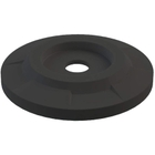 """55 Gallon Drum Black Plastic Flat Top Recycling Lid, 4"""" Opening"""