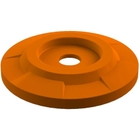 "55 Gallon Drum Orange Plastic Flat Top Recycling Lid, 4"" Opening"