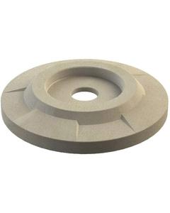 "55 Gallon Drum Beige Granite Plastic Flat Top Recycling Lid, 4"" Opening"