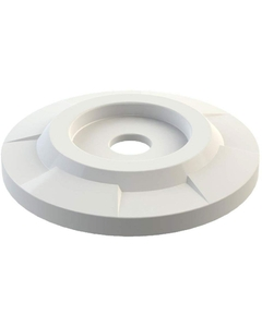 """55 Gallon Drum White Plastic Flat Top Recycling Lid, 4"""" Opening"""