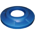 "55 Gallon Drum Blue Plastic Flat Top Trash Receptacle Lid, 11.5"" Opening"
