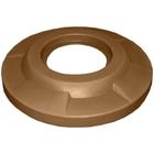 "55 Gallon Drum Brown Plastic Flat Top Trash Receptacle Lid, 11.5"" Opening"