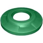 "55 Gallon Drum Green Plastic Flat Top Trash Receptacle Lid, 11.5"" Opening"
