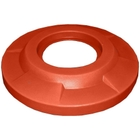 "55 Gallon Drum Orange Plastic Flat Top Trash Receptacle Lid, 11.5"" Opening"