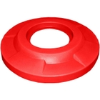55 Gallon Drum Red Plastic Flat Top Trash Receptacle Lid, 11.5